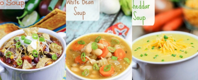 10 Cozy & Easy Vegetarian Crock Pot Soup recipes / Running in a Skirt