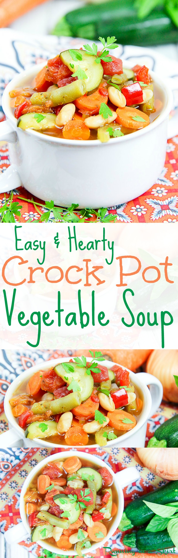 Easy crock pot vegetable soup running in a skirt part 2 for Healthy vegetarian crock pot recipes easy