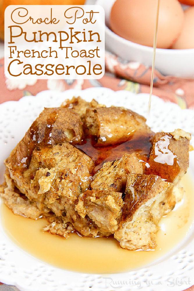 Pumpkin Crock Pot French Toast Casserole Pinterest Pin