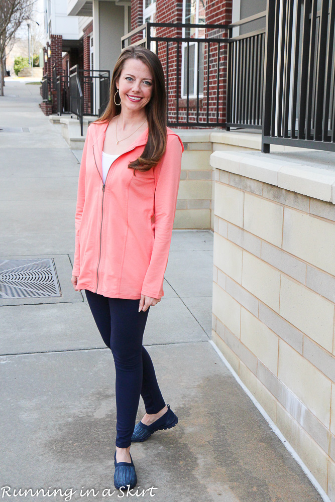 Early Spring Comfortable Outfit from Chadwicks of Boston / Running in a Skirt
