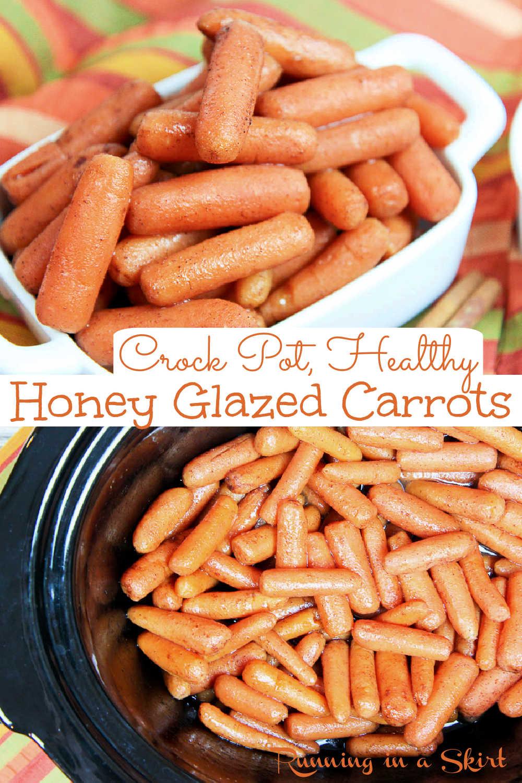 Crock Pot Honey Glazed Carrots via @juliewunder