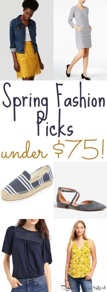 Spring Fashion Picks under $75 / Running in a Skirt
