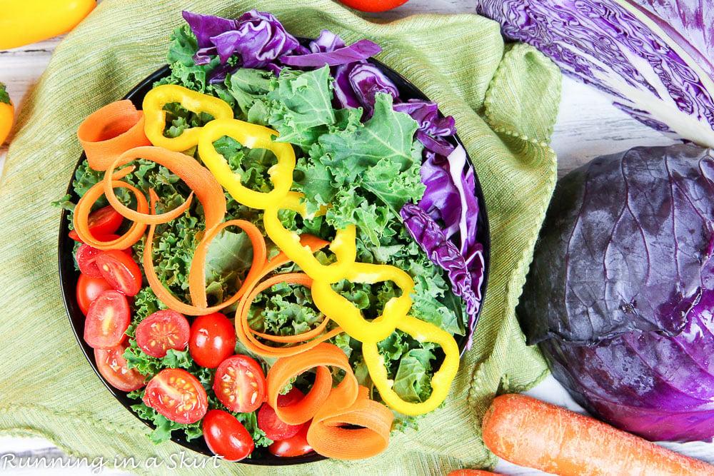 Healthy Vegan Rainbow Salad Recipe / Running in a Skirt
