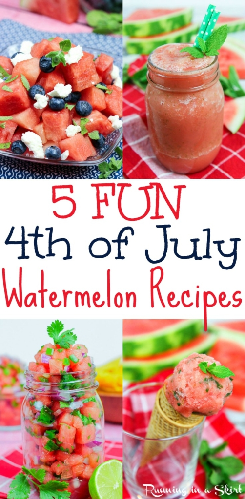 5 Fun 4th July Watermelon Recipes / Running in a Skirt