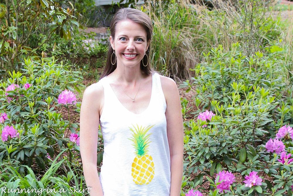 Cute Pineapple Shirt/ Running in a Skirt