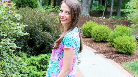 Lilly Pulitzer Shirt / Running in a Skirt