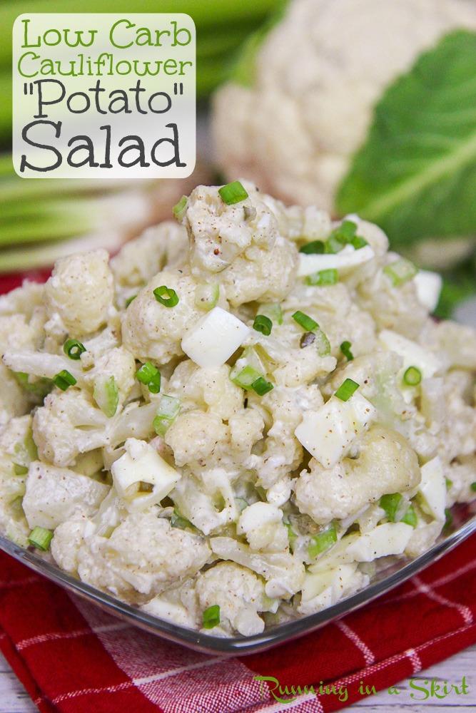 Best Cauliflower Potato salad recipe pinterest pin