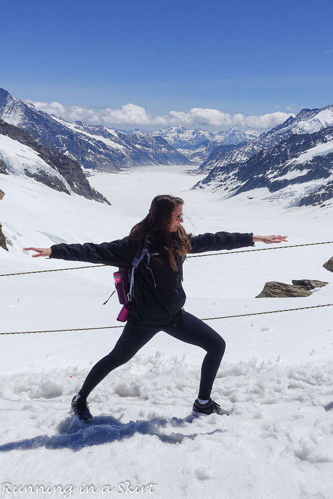 An Epic Day Trip to Jungfraujoch Top of Europe / Running in a Skirt