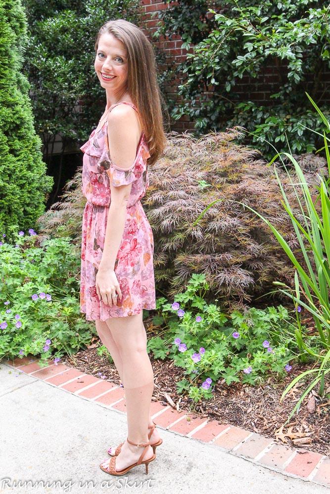 Pink Summer Dress / Running in a Skirt