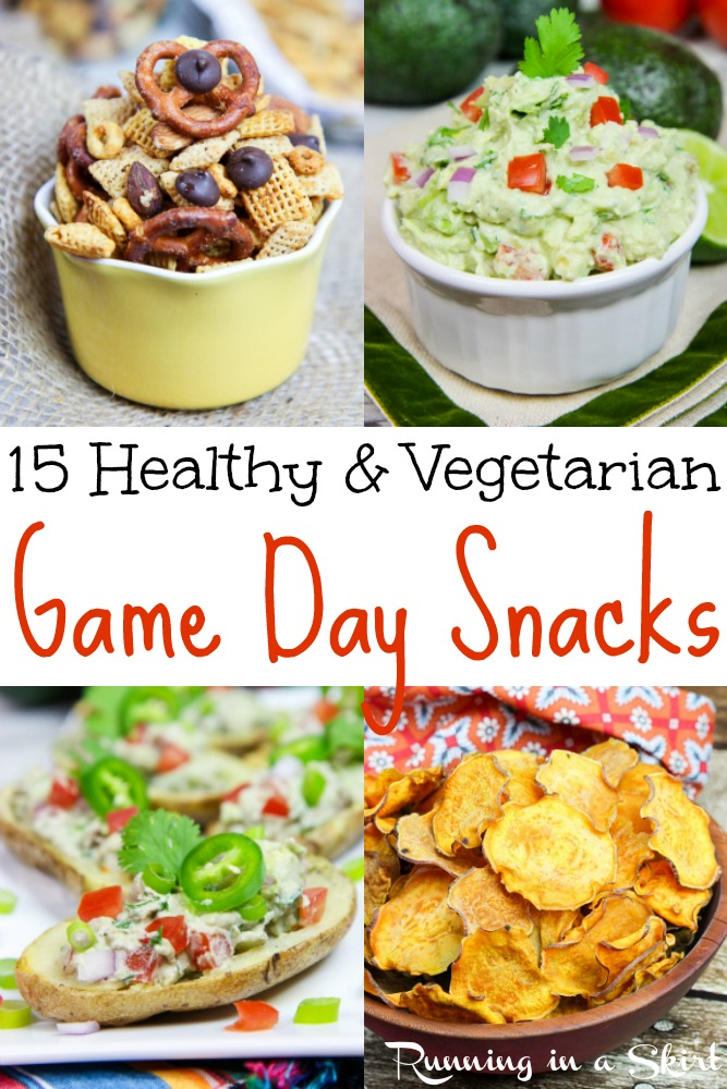 Vegetarian Healthy Game Day Snacks / Running in a Skirt
