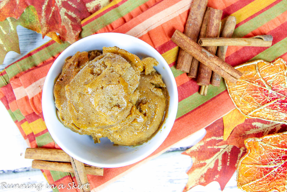 Clean Eating Pumpkin Nice Cream recipe / Running in a Skirt