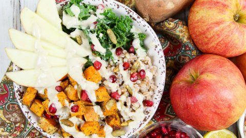 Fall Harvest Bowl recipe / Running in a Skirt
