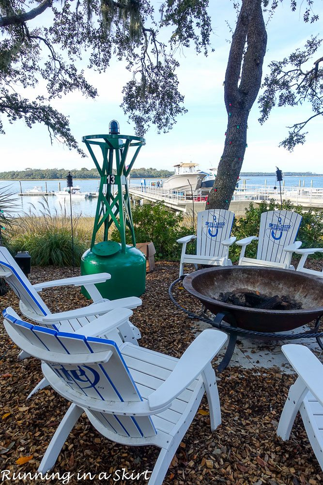 Skull Creek Boathouse waterview - best restaurants in Hilton Head on the water
