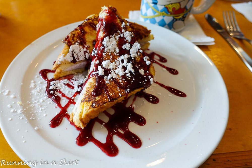 Palmetto Bay Island Cafe - Best Breakfast restaurants in Hilton Head- french toast on white plate.