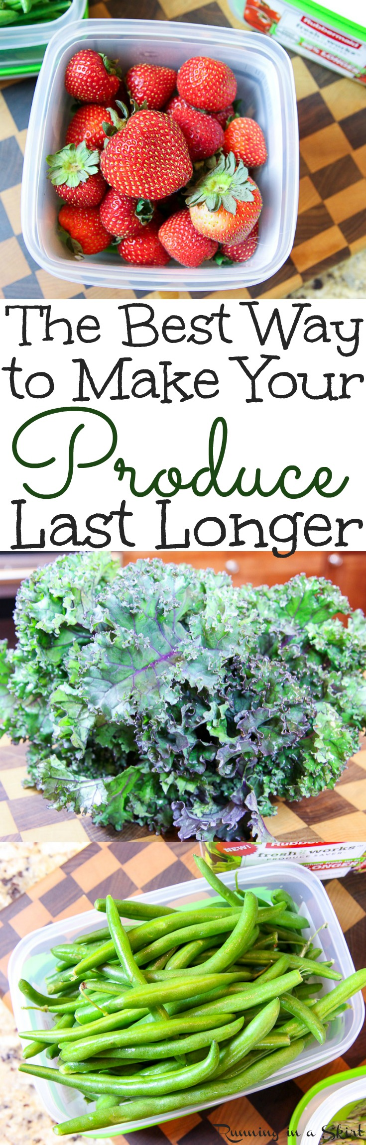 The Best Way to Make Your Produce Last Longer - The perfect produce storage ideas and tips for kitchens.  Includes how to store fruits, vegetables and veggies in refrigerators for a long life. / Running in a Skirt via @juliewunder