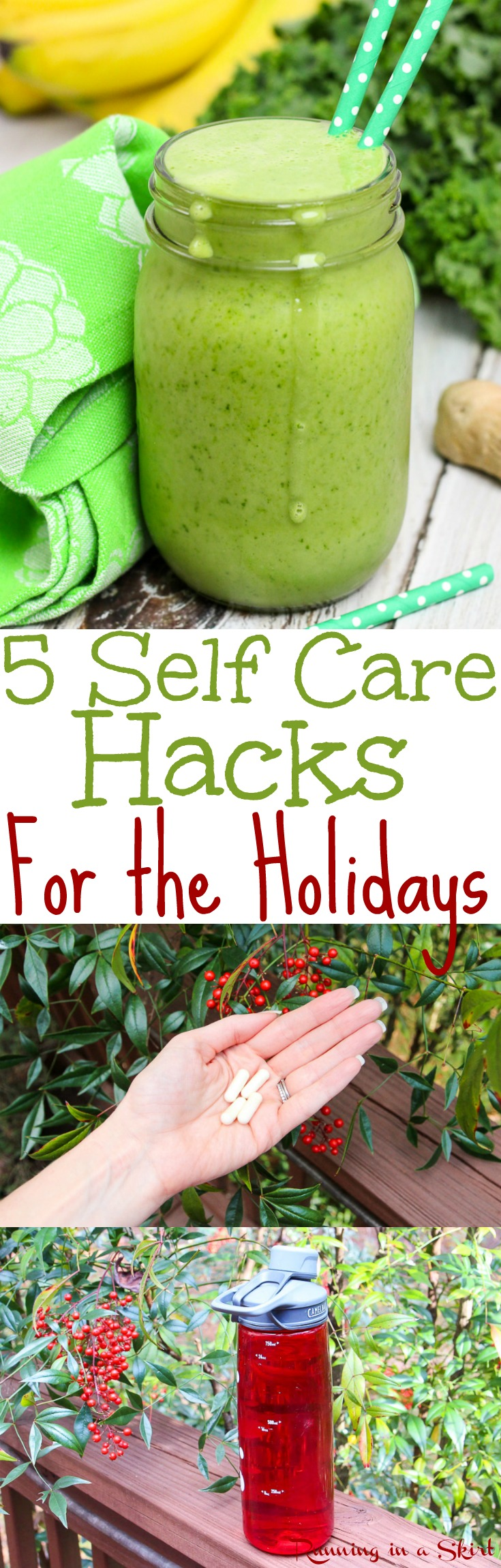5 Self Care Hacks for This Holiday Season!  The best way and habits to have a healthy holiday this year including food, motivation and simple health tips. . #BeingHumanTakesGuts @renewlife AD via @juliewunder