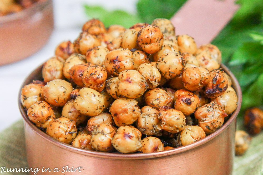 Closeup of the ranch chickpeas.