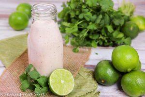 Greek Yogurt Healthy Chipolte Lime Ranch Dressing recipe / Running in a Skirt