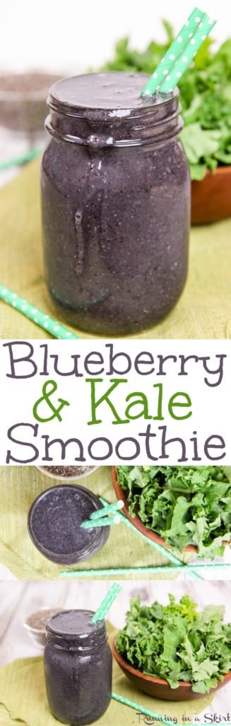 Healthy Kale and Blueberry Smoothie recipe