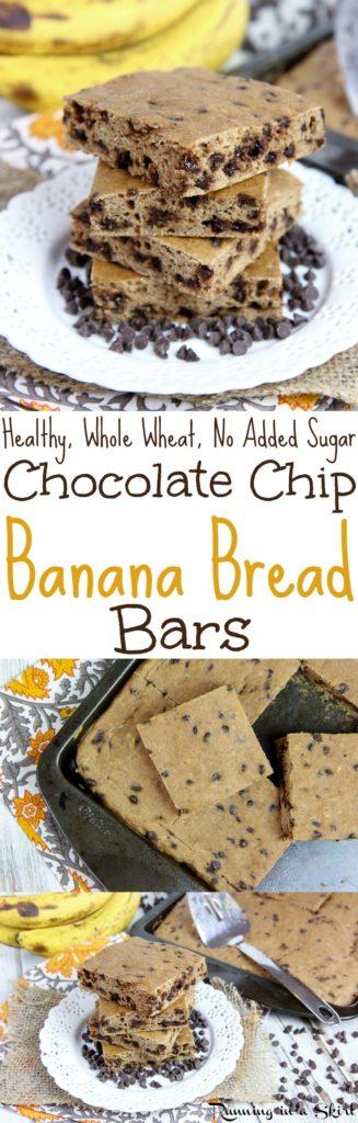Healthy Banana Bread Bars