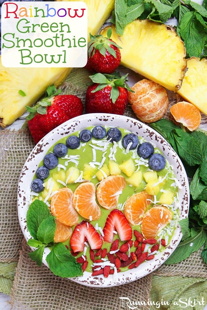 Rainbow Green Smoothie Bowl