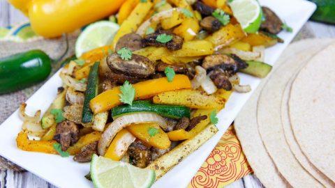 Sheet Pan Vegetarian Oven Fajitas recipe