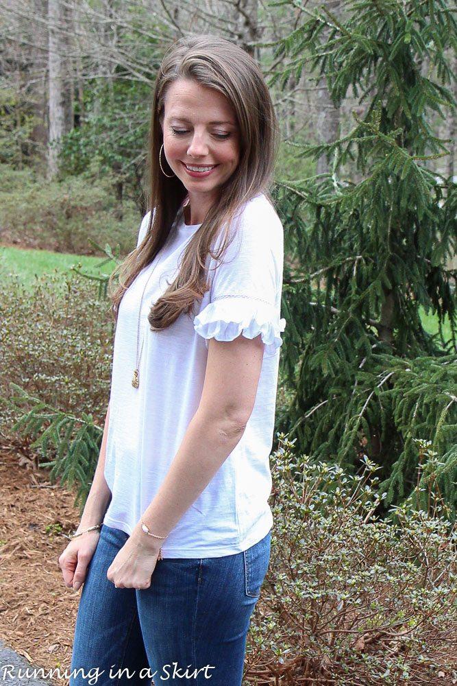 White Ruffle Sleeve Shirt via @juliewunder