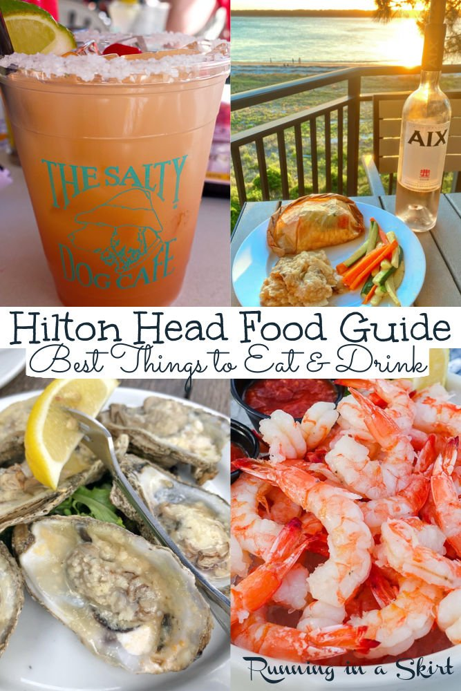 Best Hilton Head Eats - the best restaurant and food choices on this South Carolina Island. From seafood restaurants, lunches, dinners and bar like The Salty Dog Cafe and Skull Creek Boathouse... these are the destinations for great islands food. / Running in a Skirt via @juliewunder