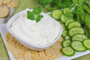 5 Ingredient Lemon Garlic Whipped Feta with Greek Yogurt recipe
