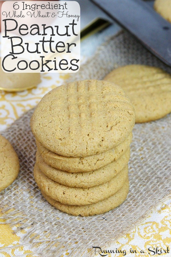 healthy Whole Wheat Peanut Butter Cookie recipe