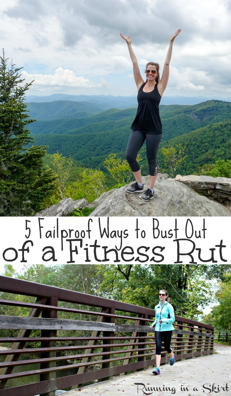 How to Get Out of a Fitness Rut - motivation to workout or exercise for health, weight loss or happiness! Includes fun products, tips and ideas to get you back on track for a healthier life. Don't miss this inspiration! / Running in a Skirt #workout #fitness #health #FFitBBoxx AD via @juliewunder