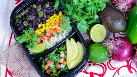 Meal Prep Easy Vegetarian Burrito Bowl recipe