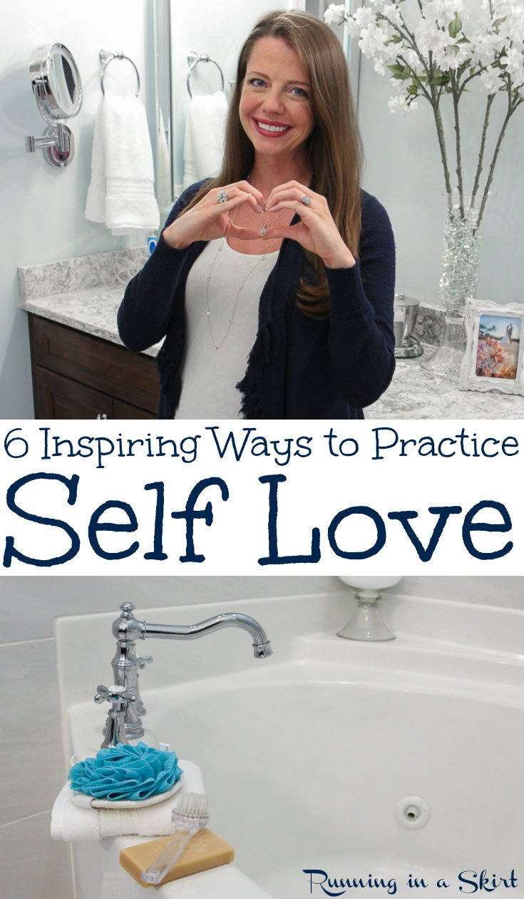 6 Inspiring Self Care Habits to Practice Self Love - tips, inspiration and activities for a healthy life.  Includes motivation for positivity, beauty and happiness by adding a few habits to your week! / Running in a Skirt #selflove #selfcare #motivation #healthyliving #inspiration #healthy #happiness via @juliewunder