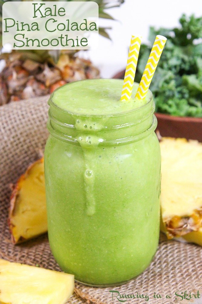 Kale Pina Colada Smoothie recipe
