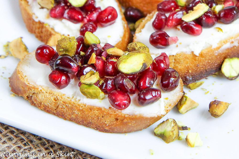 Pomegranate Crostini Recipe Easy Christmas Appetizers