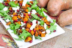 sweet potato lentil feta salad recipe