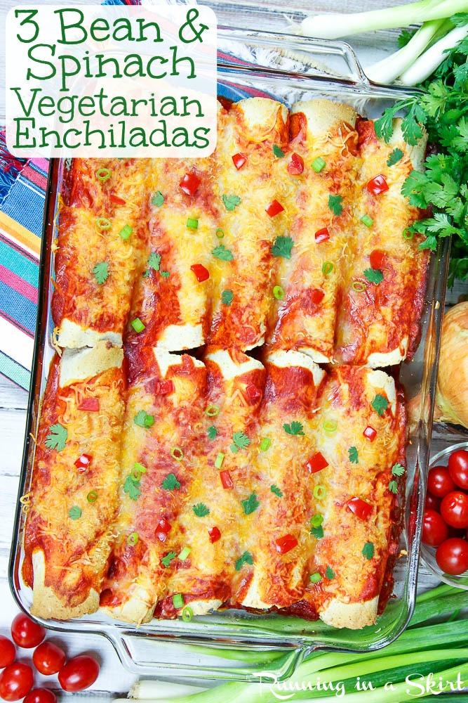 vegetarian three bean enchiladas recipe