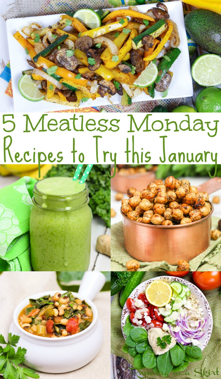 5 Meatless Monday and Plant Based Recipes to make!  All easy and healthy for families or beginners.  Great high protein, whole food and vegan ideas for dinner or snacks.  Includes a crockpot soup! / Running in a Skirt #meatlessmonday #vegetarian #vegan #highprotein, #recipe #planbased #mealplanning via @juliewunder