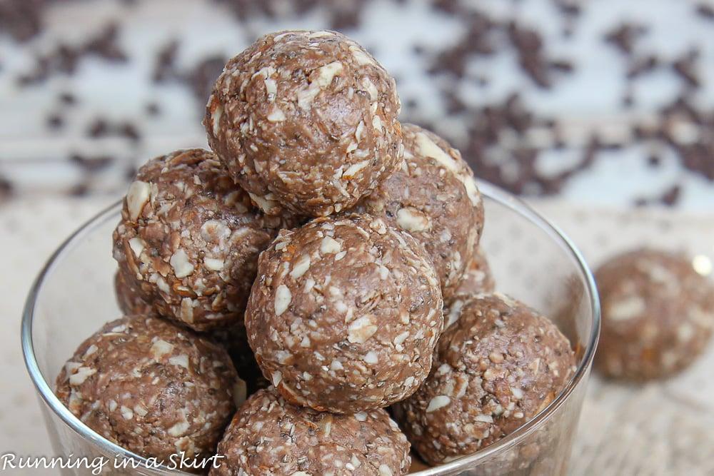 Closeup of Nutella Protein Balls recipe