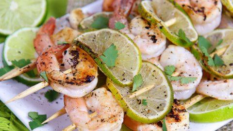 Honey Lime Shrimp Skewers recipe