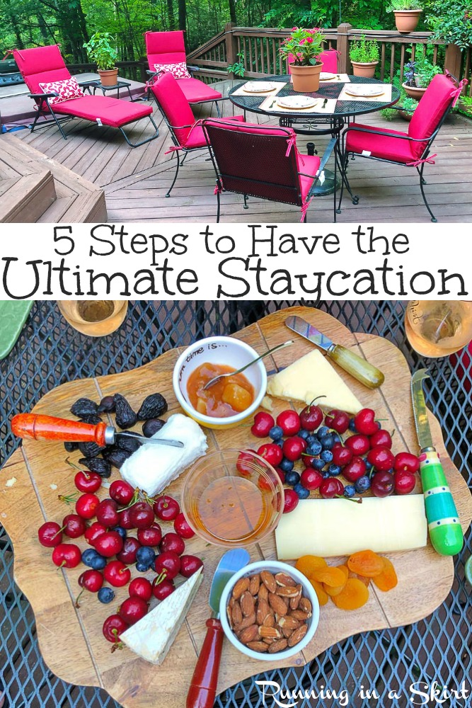 5 Steps to Have the Ultimate Staycation - staycation ideas for a relaxing weekend or week at home in summer.  Inspiration to keep it stress free and enjoy your own backyard.  For adults or for kids! / Running in a Skirt  #SummerwithOrkin #OrkinPestControl @OrkinPestControl via @juliewunder