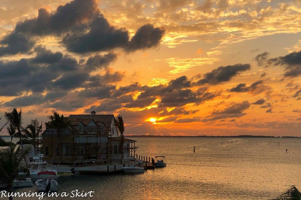 Sunset at Hopetown Bahamas.