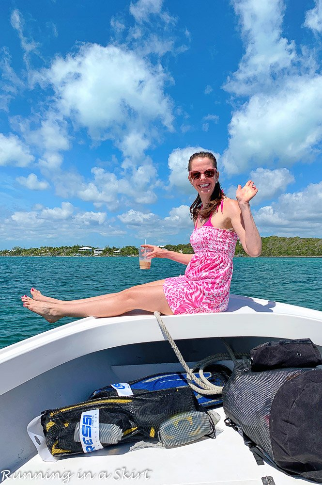 What to do in Hope Town Bahamas - boating the Sea of Abacos.