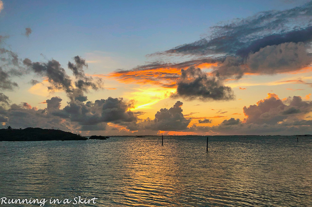 Sunset at Abacos Inn on Elbow Cay.