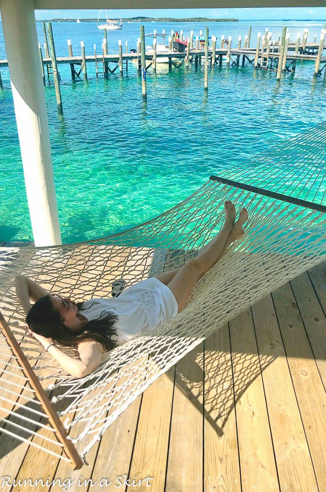 What to do in Hope Town Bahamas hammock at firefly resort.