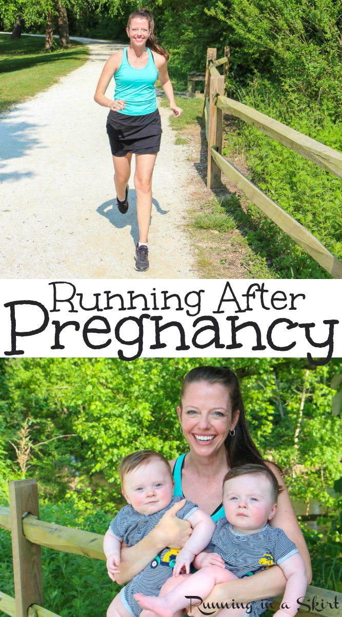 5 Practical Steps for Running After Pregnancy - Tips to run after a baby including dealing with Diastasis Recti, getting back in shape and how to get back to your old speed from a twin Mom! #AD #DoveZeroWorries #CVS / Running in a Skirt #twins #running #run #fitness #baby #workout #postpartum  via @juliewunder