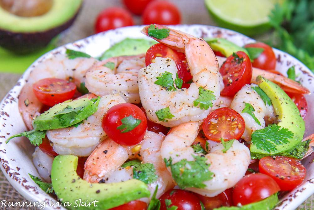 Shrimp Avocado Lime Salad recipe