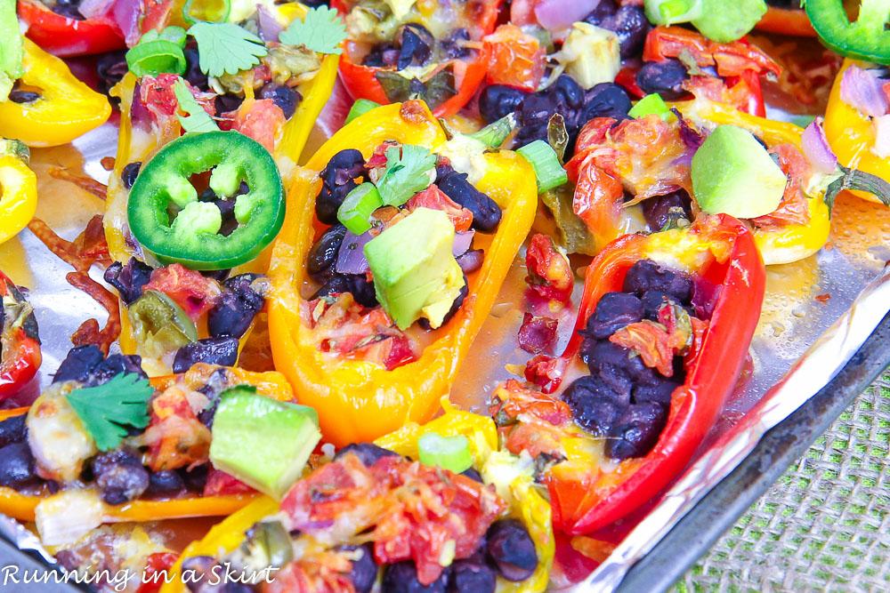 Vegetarian Mini Bell Pepper Nachos recipe