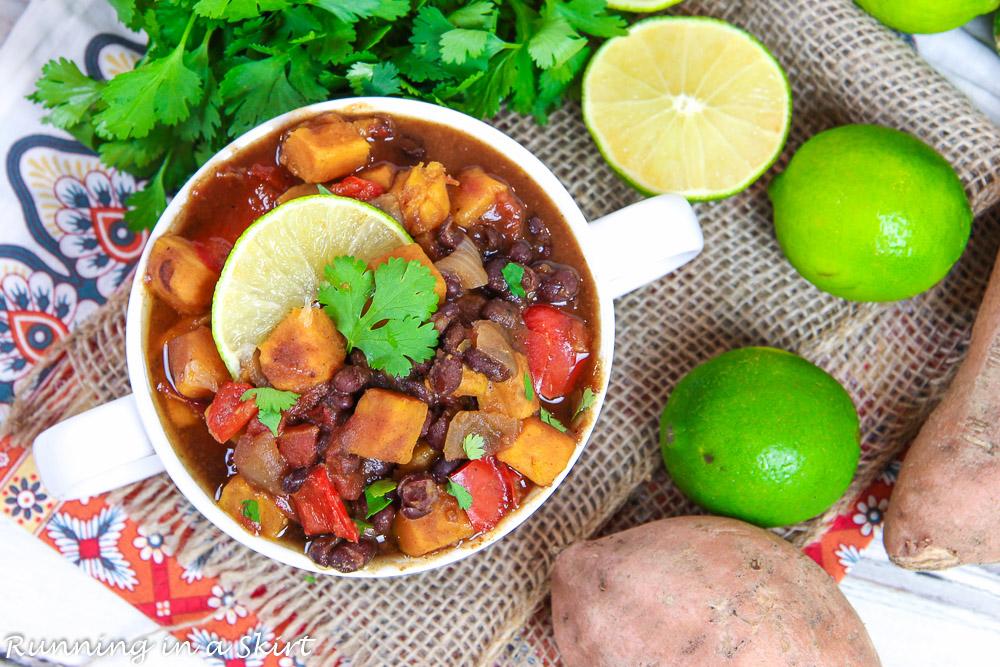 Crock Pot Sweet Potato Black Bean Chili recipe