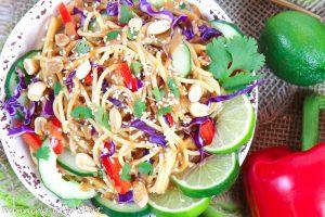 Vegan Thai Peanut Noodle Salad recipe
